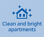 Clean and bright apartments